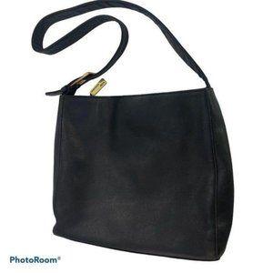 Ralph Lauren Black Leather Shoulder Bag